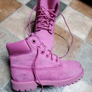 Timberlands pink sz 12  (wear from 1 time use)